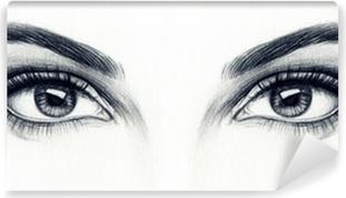 Naisen silmät Vinyyli valokuvatapetti