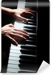 Piano avaimet pianisti käsittelee näppäimistöä Vinyyli valokuvatapetti