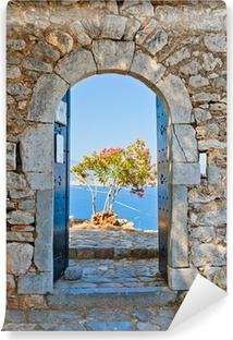 Portti palamidin linnoituksessa, nafplio, kreikka Vinyyli valokuvatapetti
