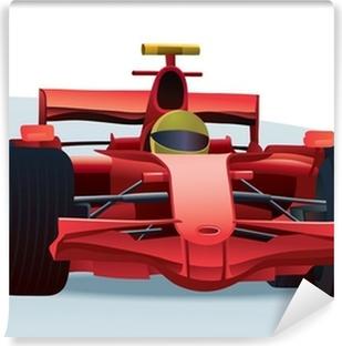 Punainen f1 kilpa-auto Vinyyli valokuvatapetti
