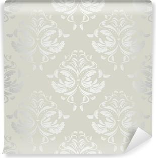 Saumaton wallpaper.damask pattern.floral background Vinyyli valokuvatapetti