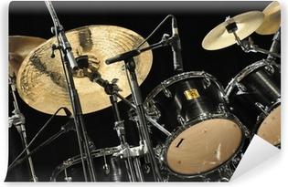 Schlagzeug Vinyyli valokuvatapetti