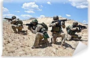 Sotilastoimintaa Vinyyli valokuvatapetti