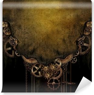 Steampunk tausta Vinyyli valokuvatapetti