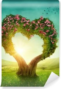 Sydämen muotoinen puu Vinyyli valokuvatapetti