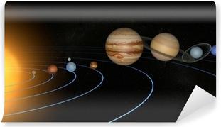 System solar planeti space universo pohja Vinyyli valokuvatapetti