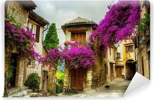 Taide kaunis vanha kaupunki provence Vinyyli valokuvatapetti
