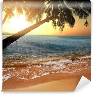 Trooppinen ranta Vinyyli valokuvatapetti