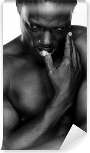 Urheilullinen afrikkalainen amerikkalainen mies Vinyyli valokuvatapetti