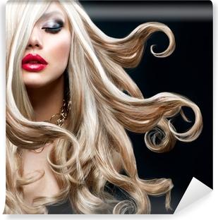 Vaaleat hiukset. kaunis seksikäs blondi tyttö Vinyyli Valokuvatapetti