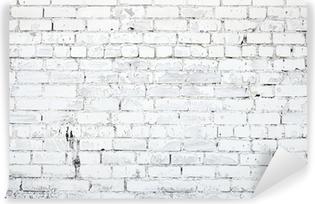Valkoinen tiiliseinä Vinyyli valokuvatapetti