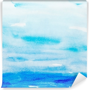 Värien lyöntiä vesiväri maalaus art Vinyyli valokuvatapetti