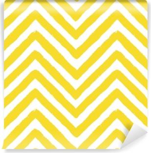 Vektori chevron keltainen saumaton malli Vinyyli valokuvatapetti