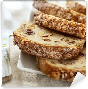 Viipaloitu rusinoita leipää Vinyyli valokuvatapetti