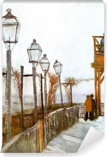 Vincent van Gogh - Terassi ja näköalatasanne Moulin de Blute-Fin, Montmartre Vinyyli valokuvatapetti