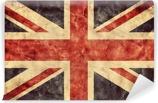 Yhdistyneen kuningaskunnan grunge lippu. vintage lippujen kokoelma Vinyyli valokuvatapetti