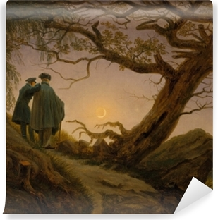 Caspar David Friedrich - Ay'yı Seyreden İki Adam Vaskbare fototapet