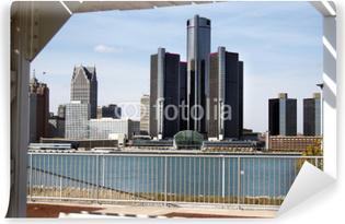 Vaskbar fototapet Detroit Fra Canadian Outdoor Shelter
