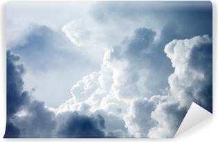 Vaskbar fototapet Dramatisk himmel med stormfulle skyer