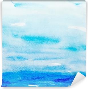 Farve streger akvarel maleri kunst Vaskbare fototapet