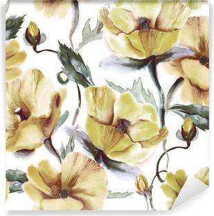 Vaskbar fototapet Floral sømløs mønster