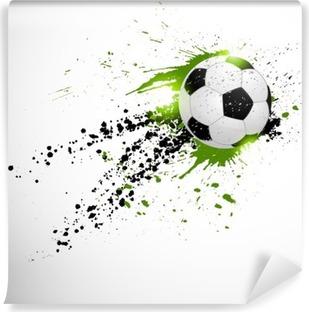Fodbold design Vaskbare Fototapet