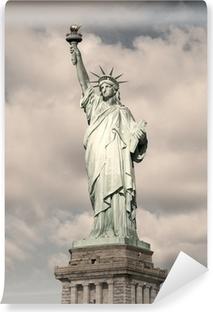 Frihedsgudinden - sepia billede Vaskbare fototapet