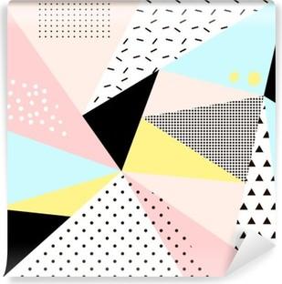 Geometrisk memphis background.Retro design til invitation, visitkort, plakat eller banner. Vaskbare fototapet