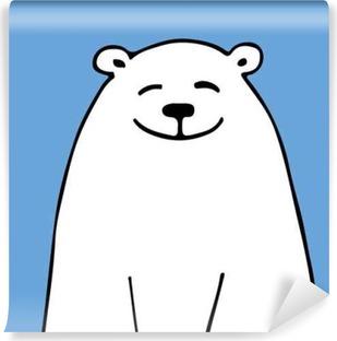 Hvid bjørn, skitse til dit design Vaskbare fototapet