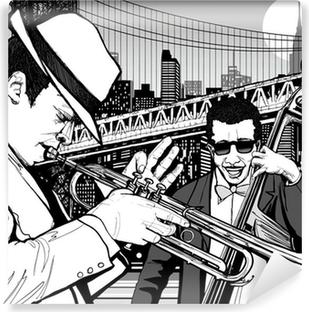Vaskbar fototapet Jazz i new york