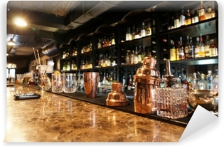 Klassisk bar tæller Vaskbare fototapet