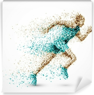 Vaskbar fototapet Løpende mann