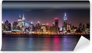 Vaskbar fototapet Manhattan Panorama under Pride Weekend
