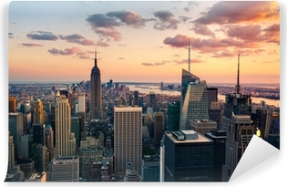 New York Empire State Building Times Square Vaskbare Fototapet
