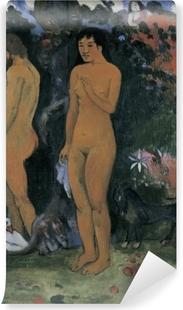 Vaskbar fototapet Paul Gauguin - Adam og Eva