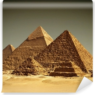 Vaskbar fototapet Pyramider - Giza / Egypt