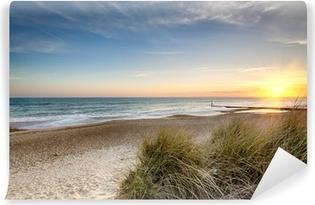 Solnedgang strand Vaskbare Fototapet