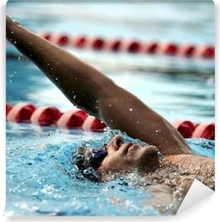 Svømning - sport Vaskbare fototapet