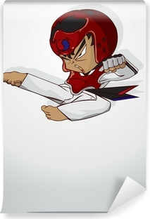 Vaskbar fototapet Taekwondo kampsport