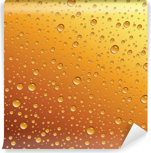 Vaskbar fototapet Vanndråper på øl