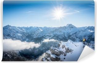 Vintersport i bavaria Vaskbare Fototapet