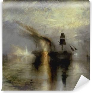 William Turner - Begravelse til søs Vaskbare fototapet