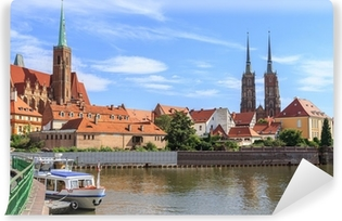 Vaskbar fototapet Wroclaw, Ostrow Tumski (katedraløya), polen