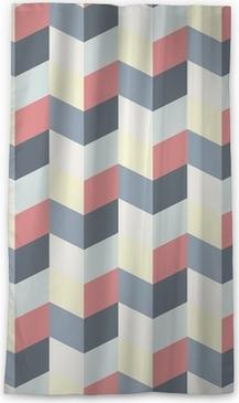 Verduisterend gordijn Abstract retro geometrisch patroon