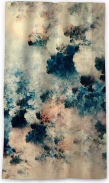 Verduisterend gordijn Het digitale abstracte schilderen van donkere texturen die op fantasiewolken op een lichte achtergrond lijken