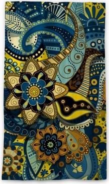 Verduisterend gordijn Indiase kleurrijke naadloze patroon