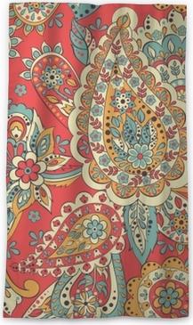 Verduisterend gordijn Paisley etnisch bloemenornament. folkloristische vector naadloze patroon