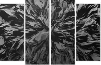 Vierluik 3d abstracte achtergrond