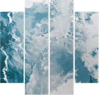 Vierluik Blauwe marmeren textuur