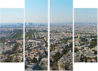 Vierluik Luchtfoto van Parijs.